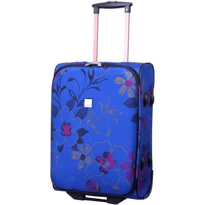 Tripp Express Dotty Flower 2W Cabin Suitcase Blue/Rasp