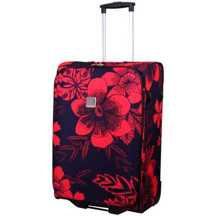 Tripp Summer Flower 2-Wheel Medium Suitcase  Grape/Coral