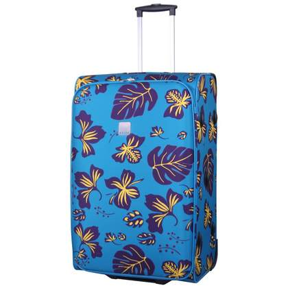 Tripp Scattered Leaf Large 2-Wheel suitcase Turq/Grape