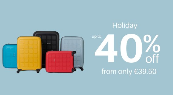 Holiday up to 40% off