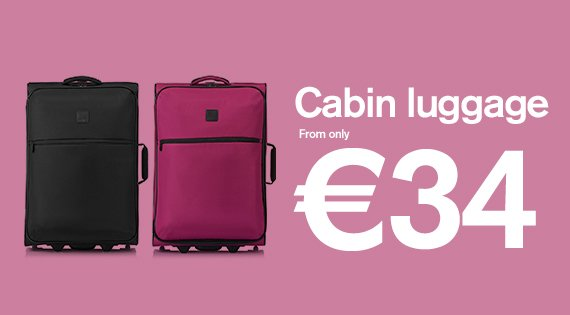Cabin cases from only €34