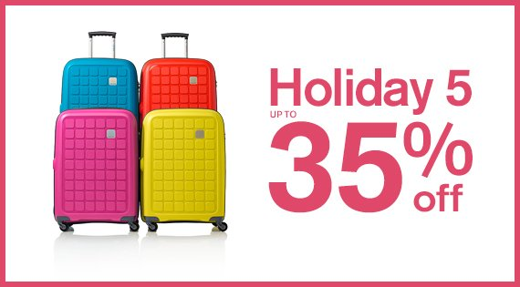 Holiday 5 Up to 35% off