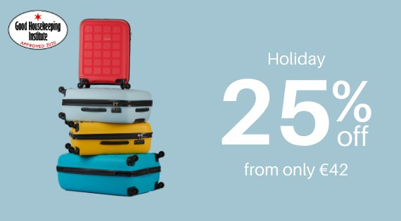 Holiday up to 25% off
