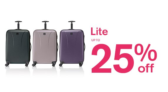 Lite up to 25% off