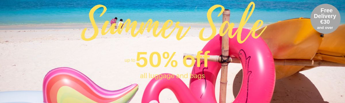 Summer Sale up to 50% off all luggage and bags