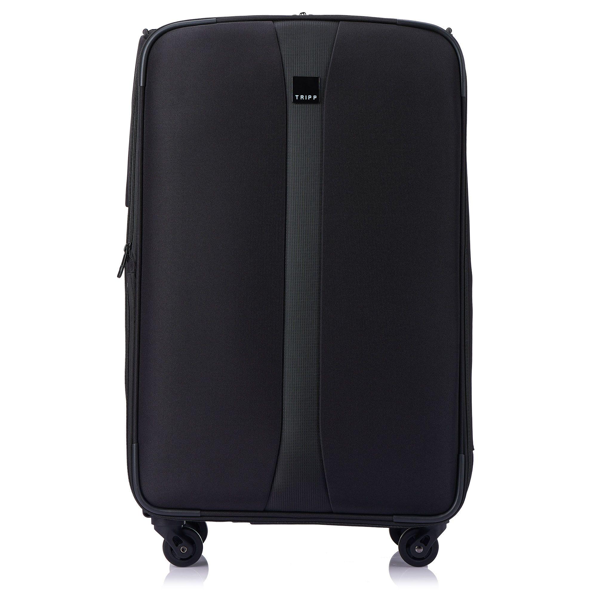 tripp black 39 superlite 4w 39 4 wheel medium suitcase soft. Black Bedroom Furniture Sets. Home Design Ideas