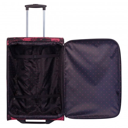 Tripp rose/navy 'Outline Pansy' 2 wheel cabin suitcase