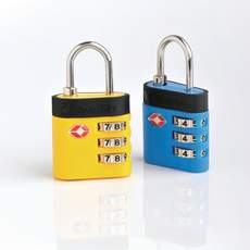 Travel Blue TSA Combi De-Luxe Lock Blue/Yellow