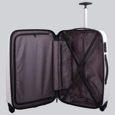 Tripp white gloss 'Chic' 4 wheel medium suitcase
