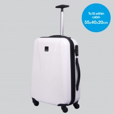 Tripp white gloss 'Chic' 4 wheel cabin suitcase
