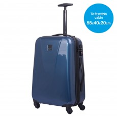 Tripp ocean blue 'Chic' 4 wheel cabin suitcase
