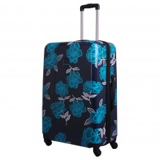 Tripp navy/turquoise 'Bloom Hard' 4W large suitcase