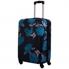 Tripp navy/turquoise 'Bloom Hard' 4W medium suitcase
