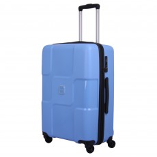Tripp chambray 'World' 4 wheel medium suitcase