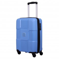 Tripp chambray 'World' 4-wheel cabin suitcase