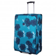 Tripp turquoise/navy 'Bloom' 2-wheel large suitcase