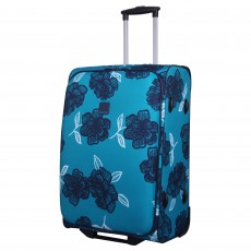 Tripp turquoise/Navy 'Bloom' 2-Wheel Medium Suitcase