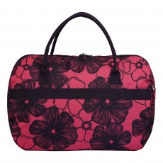 Tripp rose/navy ' Outline Pansy' large holdall