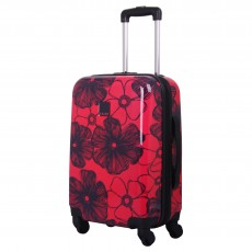 Tripp rose/navy 'Pansy Hard' 4 wheel cabin suitcase