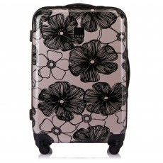 Tripp Blush/Black 'Pansy Hard' 4 Wheel Medium Suitcase