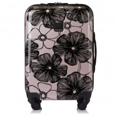 Tripp Blush/Black 'Pansy Hard' 4 Wheel Cabin Suitcase