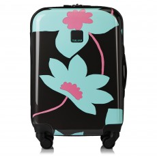 Tripp Slate/Cool Mint 'Azalea' Cabin 4 Wheel Suitcase