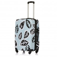Tripp Ice Blue/Black 'Bold Leaf' Medium 4 Wheel Suitcase