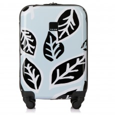 Tripp Ice Blue/Black 'Bold Leaf' Cabin 4 Wheel Suitcase