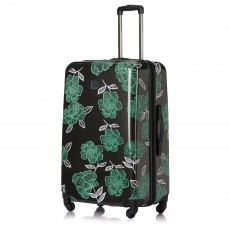 Tripp Slate/Sea Green 'Bloom' Large 4 Wheel Suitcase