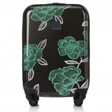 Tripp Slate/Sea Green 'Bloom' Cabin 4 Wheel Suitcase