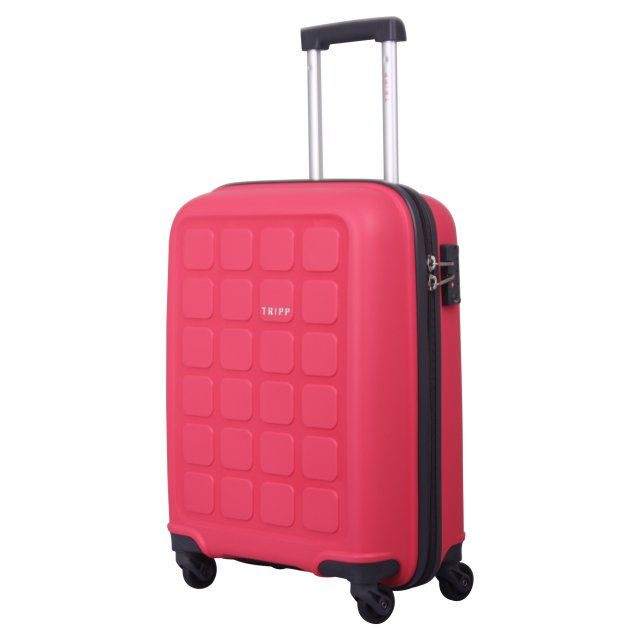 Holiday 6 Cabin 4 wheel Suitcase 55cm RASPBERRY