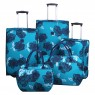 Tripp Tripp turquoise/navy 'Bloom' 2-Wheel cabin suitcase